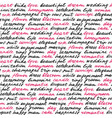 wedding lettering seamless pattern vector image vector image