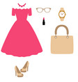 womens accessories flat design vector image