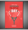 world nurse day vector image vector image