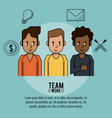 young business teamwork vector image vector image