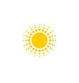 sun symbol design vector image
