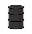 Barrel of oil on a white background Black steel vector image