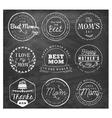 Best Mom Design Elements and Badges vector image