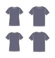 Black short sleeve t-shirts templates vector image