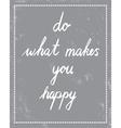 makes happy vector image