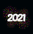 2021 happy new year with festive typographic vector image