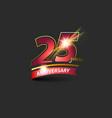 25 years red gold anniversary logo