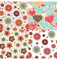4 bright seamless patterns vector image vector image