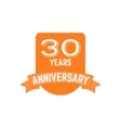Anniversary badges signs and emblems collection vector image vector image