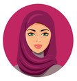 arab muslim woman on white background in hijab vector image vector image