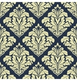 Beige and dark blue seamless damask pattern vector image vector image