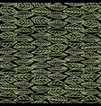black pattern with line art leaves vector image