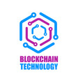 blockchain technology icon smart contract vector image vector image