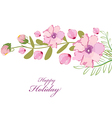 Blossoming flower brunch with spring flowers on vector image vector image