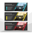 blue red yellow corporate business banner vector image vector image