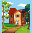 broken house in the countryside vector image vector image