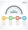 business timeline infographics with 4 circles vector image vector image