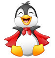 cartoon happy penguin isolated on white background vector image vector image