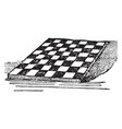 checker-board vintage vector image