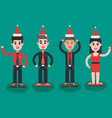 christmas party employees vector image vector image