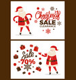 christmas sale clearance vector image vector image