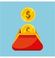 coins wallet isolated icon vector image