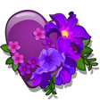 decor form heart purple color decorated with vector image vector image