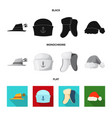 design of headwear and cap logo set of vector image vector image