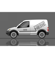 Digital silver and white realistic vehicle vector image vector image