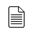 Document icon on white vector image