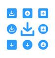 download icon logo icon vector image vector image