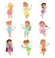 Fairies cartoon characters set vector image vector image