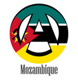 flag of mozambique of the world in the form of a vector image vector image