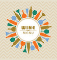 for wine shop menu stock vector image vector image