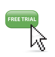 Free Trial Button Click vector image