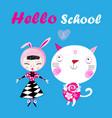 funny a hello school vector image vector image