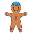 gingerbread cookie cartoon vector image