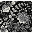 Hand-drawn paisley Flowers and paisley black vector image vector image