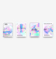 holographic posters gradient minimal iridescent vector image