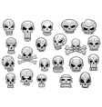Human and evil skulls set vector image vector image