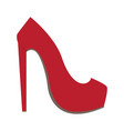 isolated high heel shoe vector image