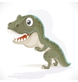 Little Tyrannosaurus isolated on white background vector image vector image