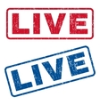 Live Rubber Stamps vector image vector image