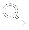 magnifying glass zoom lamp cartoon in black and vector image vector image
