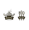 menu logo or label food service restaurant cafe vector image