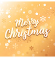 merry christmas card with text on gold background vector image