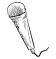 microphone drawing on white background vector image vector image