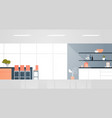 modern kitchen with furniture empty no people vector image vector image