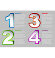 One two three four - progress background vector image vector image
