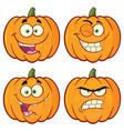 pumpkin cartoon character collection -1 vector image vector image